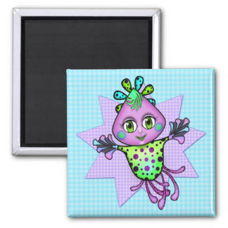 Lil' Fay the Octopus Square Magnet