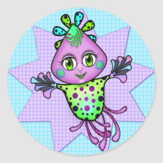 Lil' Fay the Octopus Round Sticker