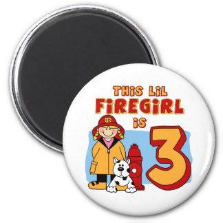 Lil Firegirl 3rd Birthday Refrigerator Magnets