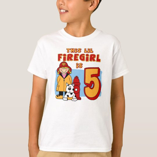 Lil Firegirl 5th Birthday T-Shirt