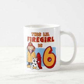 Lil Firegirl 6th Birthday Basic White Mug