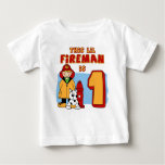 Lil Fireman 1st Birthday Tshirt