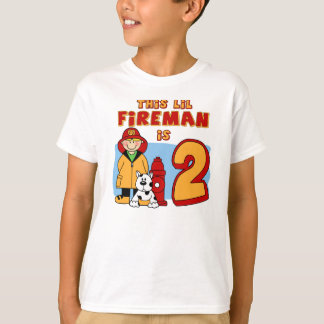Lil Fireman 2nd Birthday T-Shirt