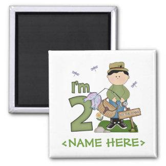 Lil Fisherman 2nd Birthday Square Magnet