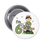 Lil Fisherman 6th Birthday Buttons