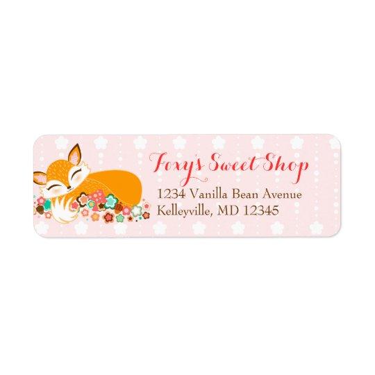 Lil Foxie Cub - Custom Return Address Labels