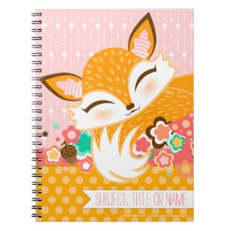 Lil Foxie Cub - Cute Fox Custom Notebook