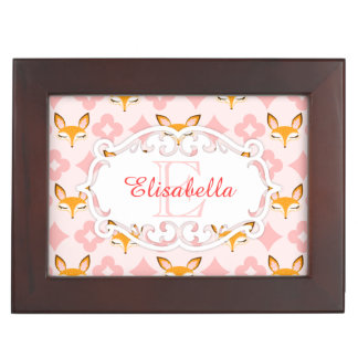 Lil Foxie - Cute Foxes Custom Name & Monogram Box