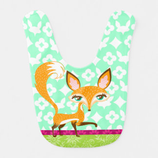 Lil Foxie - Cute Girly Fox Baby Bib