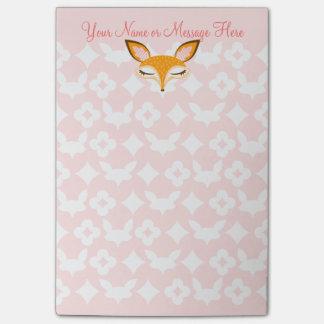 Lil Foxie - Cute Girly Fox Custom Post-it® Notes