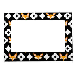 Lil Foxie - Cute Girly Fox Pattern Magnetic Frame