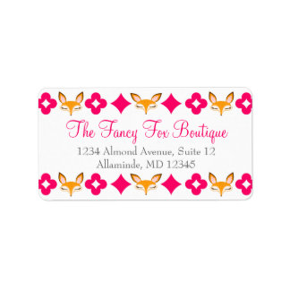 Lil Foxie - Cute Girly Foxes Custom Address Labels