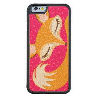 Lil Foxie - Cute Sleepy Fox Wood Phone Case Carved® Maple iPhone 6 Bumper