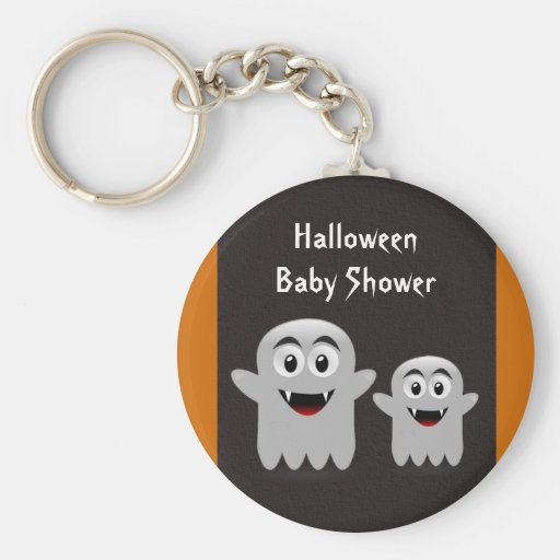 Lil Ghost Halloween Baby Shower Key Chains