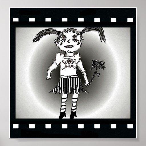 Lil Goth Girl Poster