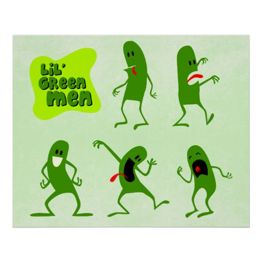 Lil' Green Men Poster
