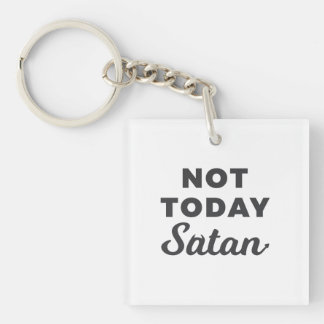 Lil Hummingbird Designs - Not Today Satan Key Ring