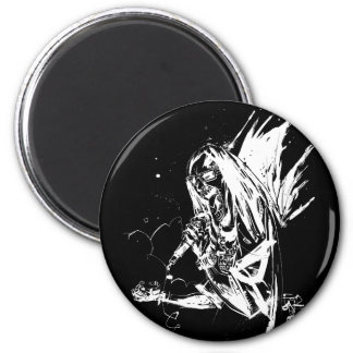 "Lil Jon ""Collaboration by Jim Mahfood and Lil Jon"" 6 Cm Round Magnet"