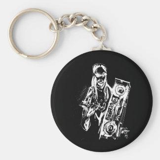 "Lil Jon ""Collaboration by Jim Mahfood and Lil Jon"" Basic Round Button Key Ring"