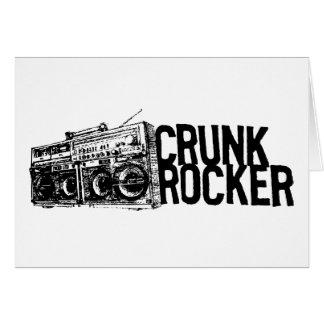 "Lil Jon ""Crunk Rocker Boombox Black White"" Greeting Card"