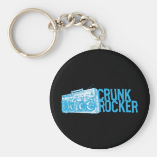 "Lil Jon ""Crunk Rocker Boombox Blue"" Basic Round Button Key Ring"