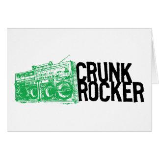 "Lil Jon ""Crunk Rocker Boombox Green"" Greeting Cards"