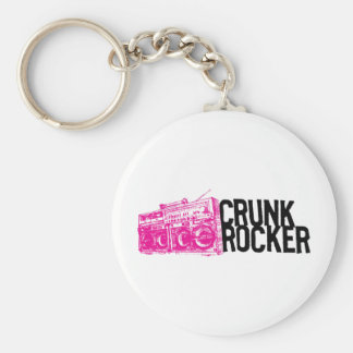 "Lil Jon ""Crunk Rocker Boombox Pink"" Basic Round Button Key Ring"