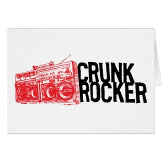 "Lil Jon ""Crunk Rocker Boombox Red"" Greeting Card"
