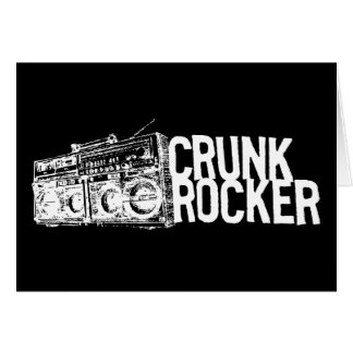 "Lil Jon ""Crunk Rocker Boombox White"" Greeting Card"
