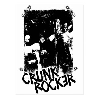 """Lil Jon """"Crunk Rocker Safety Pin Black"""" Postcard"""