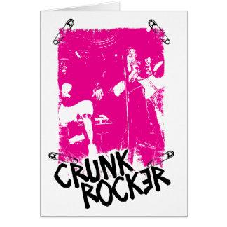 """Lil Jon """"Crunk Rocker Safety Pin Pink"""" Greeting Card"""