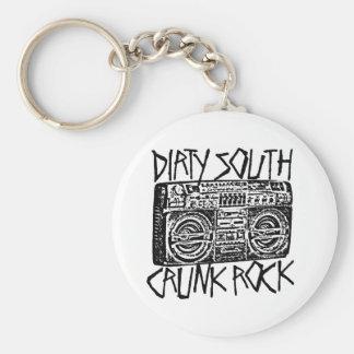 "Lil Jon ""Dirty South Boombox Black"" Basic Round Button Key Ring"