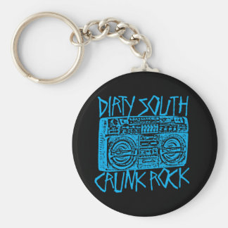 "Lil Jon ""Dirty South Boombox Blue"" Basic Round Button Key Ring"