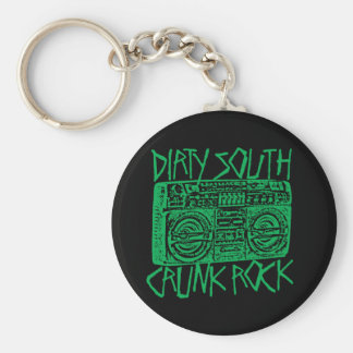 "Lil Jon ""Dirty South Boombox Green"" Basic Round Button Key Ring"
