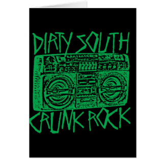 "Lil Jon ""Dirty South Boombox Green"" Greeting Card"