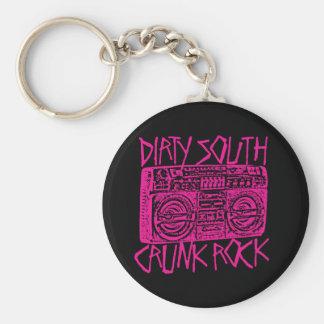 "Lil Jon ""Dirty South Boombox Pink"" Basic Round Button Key Ring"