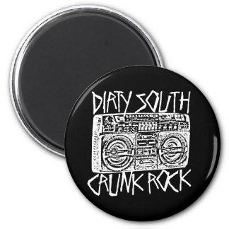 "Lil Jon ""Dirty South Boombox White"" Fridge Magnet"