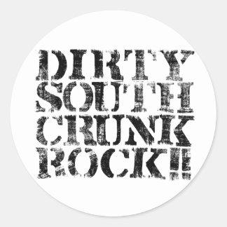 "Lil Jon ""Dirty South Crunk Rock"" Distressed Round Sticker"