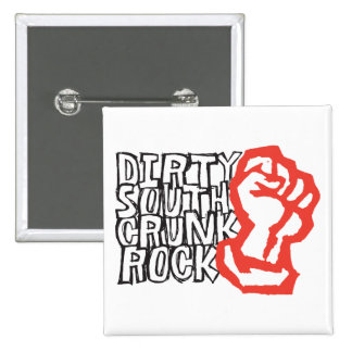 "Lil Jon ""Dirty South Fist"" Red 15 Cm Square Badge"