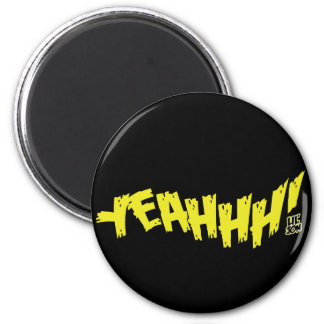"Lil Jon ""Yeeeah!"" Yellow 6 Cm Round Magnet"
