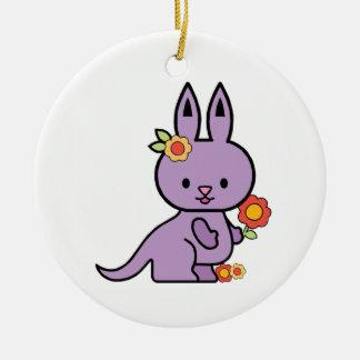 Lil Kangaroo Round Ceramic Decoration