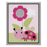 Lil Ladybug with Polka Dots #2 Nursery Art Poster