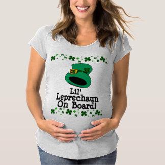 Lil' Leprechaun on Board Maternity T-shirt
