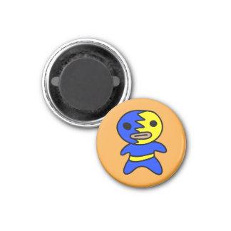 Li'l Lucha Libre Wrestler Magnet (Blue-Yellow)