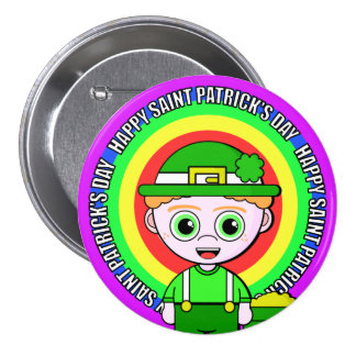 Lil Lucky Saint Patrick's Day 7.5 Cm Round Badge
