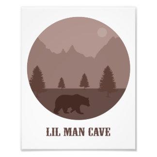 Lil Man Cave Poster Photo Print Boys Room Decor