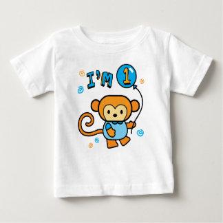 Lil Monkey 1st Birthday Baby T-Shirt