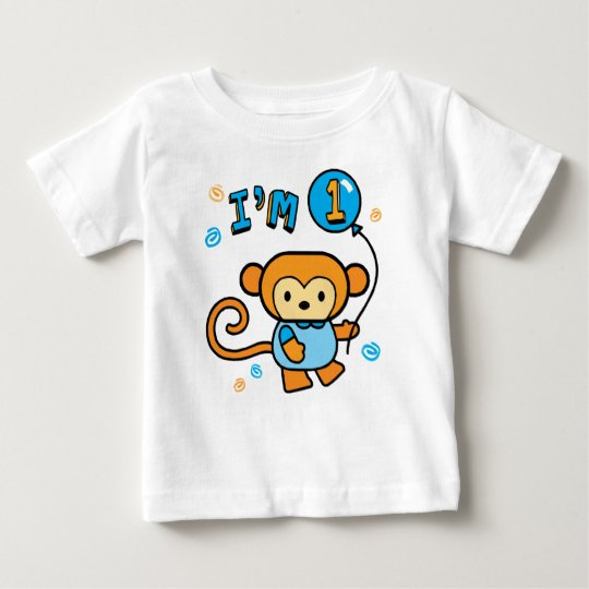 Lil Monkey 1st Birthday Baby T-Shirt
