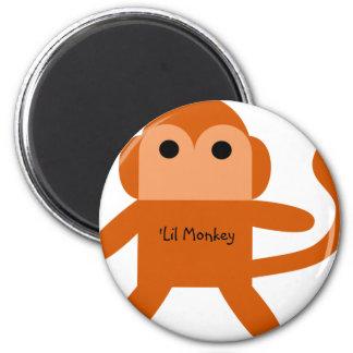 Lil Monkey 6 Cm Round Magnet