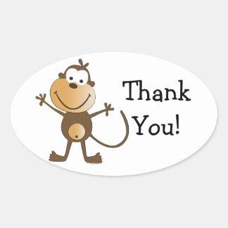 Li'l Monkey Baby Shower Thank You Stickers